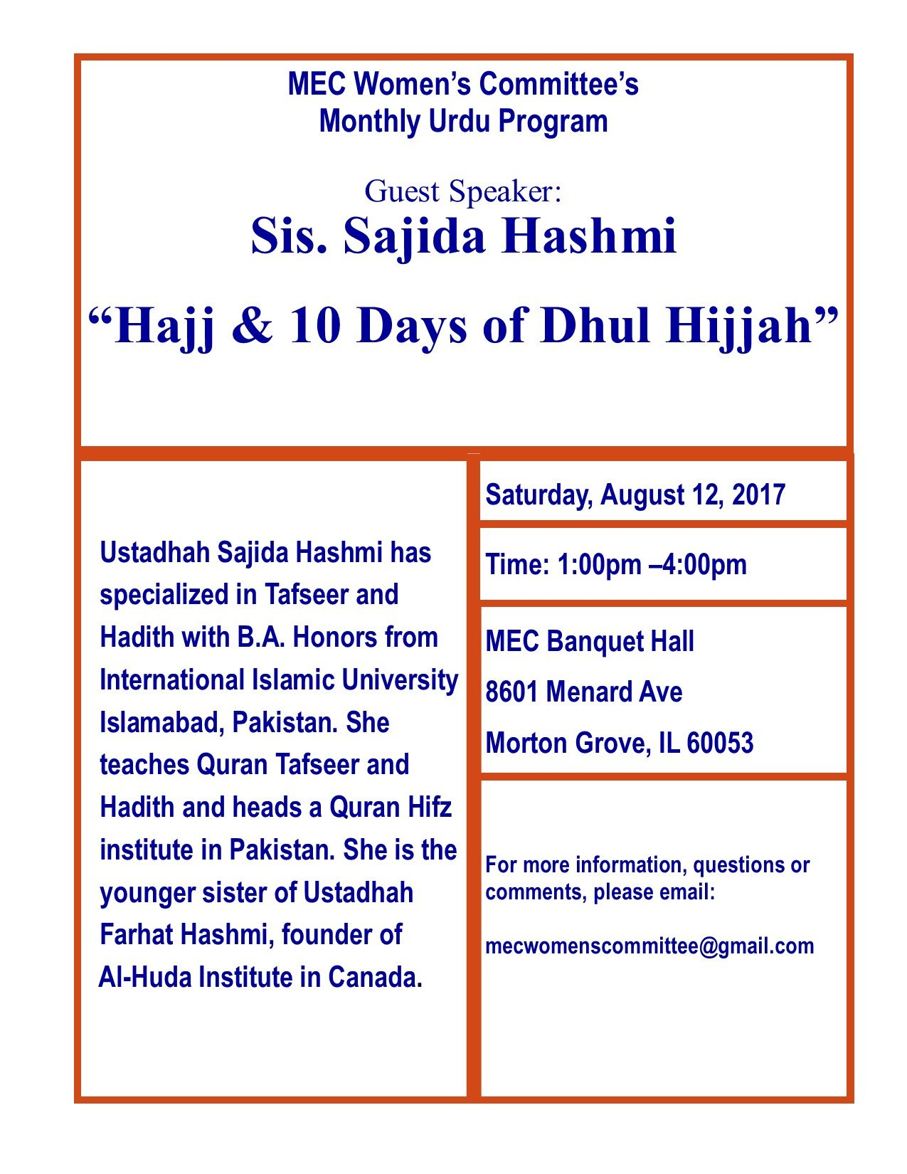 Dhul Hijja 2019 Calendrier.Hajj 10 Days Of Dhul Hijjah By Sr Sajida Hashmi On Sat