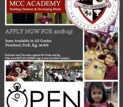 OPEN ENROLLMENT @MCC Academy