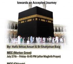 HAJJ SEMINAR: Friday, July 27th, 8:45pm @ MEC