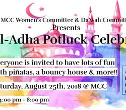 Eid Potluck on August 25th, 4 to 8 pm @ MCC