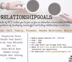 RELATIONSHIP GOALS – Youth Only, Starting Sun. Sept 9th, 10am to noon @ MEC