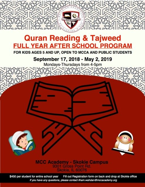Quran Reading & Tajweed Full Year After School Program – Muslim