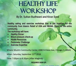 Key Elements to a Healthy Life Workshop, Sat., September 22nd, 7 to 830pm @ MCC