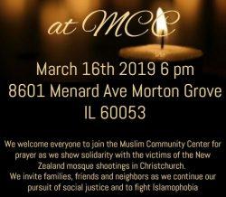 Community Vigil at MCC on March 16, 2019