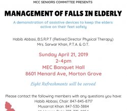 MCC SENIORS COMMITTEE PRESENTS: Management of Falls in Elderly