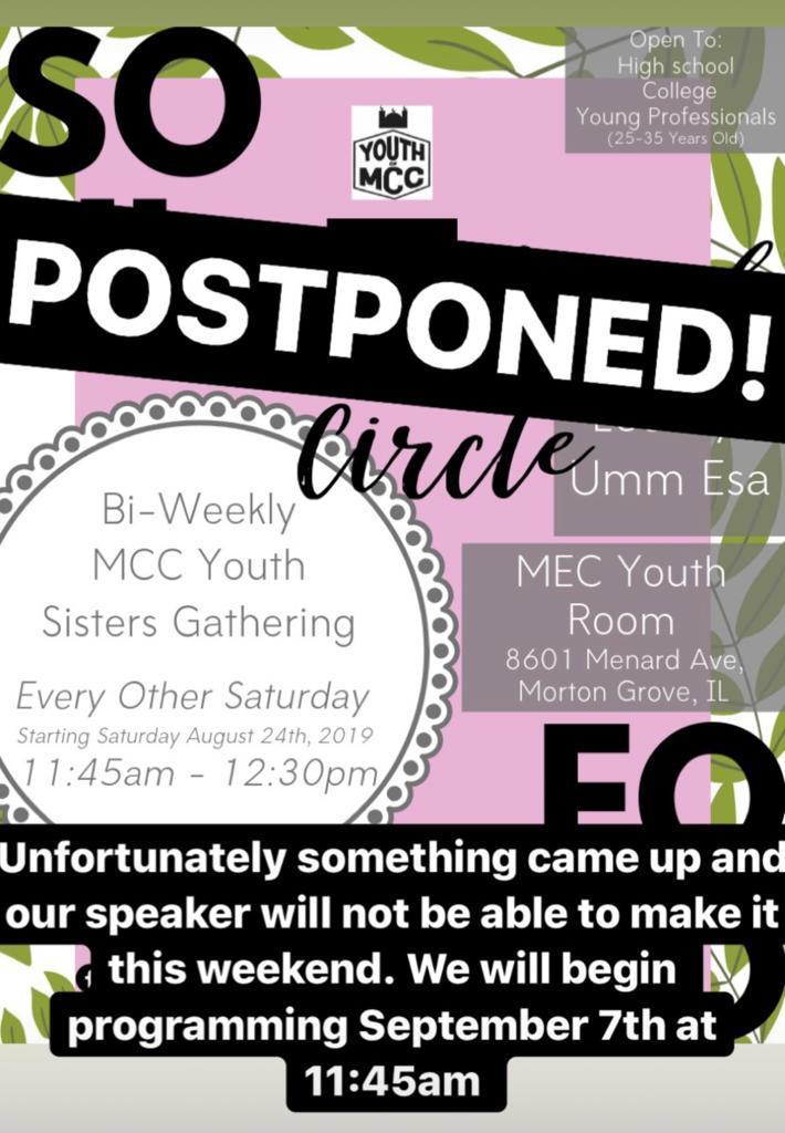 MCC Youth Sisterhood Circle – Muslim Community Center