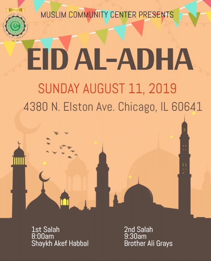 Eid Al-Adha Prayer at MCC Elston – Muslim Community Center