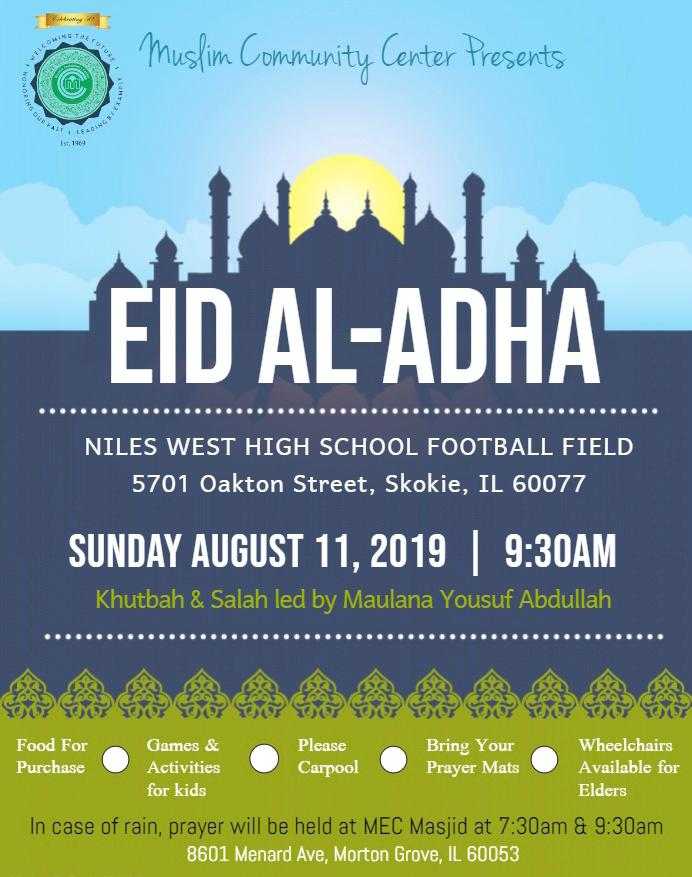 MCC Presents: Eid Al-Adha at Niles West High School Football Field