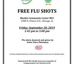 Free Flu Shots at Muslim Community Center