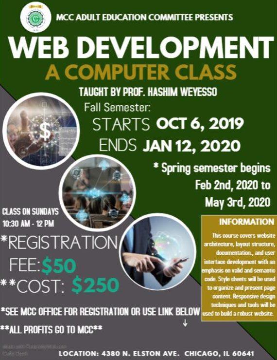 Mcc Class Schedule Fall 2020.Web Development Course Muslim Community Center