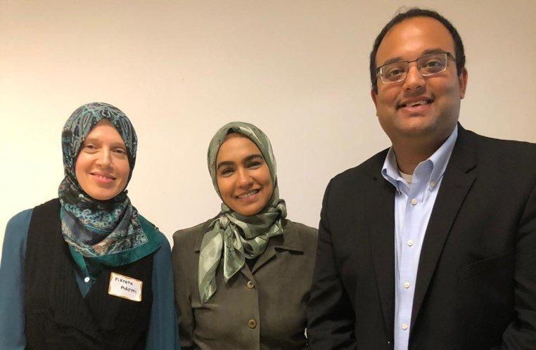 L-R: Fikreta Ademi, Dr. Saba Khan, Sen. Villivalam
