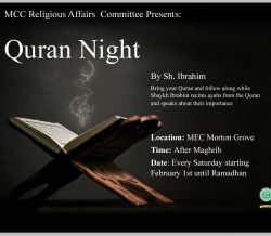 MCC Religious Affairs Presents: Quran Night | February 1st